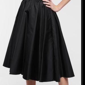 Zara Midi A-Line Skirt with Velvet Bow